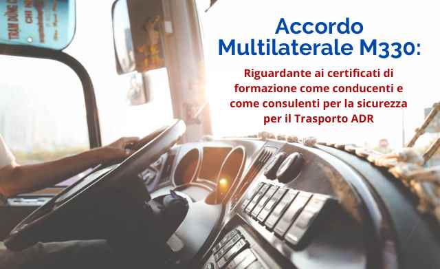 Certificati formazione Trasporto ADR: Accordo M330 in nuovi paesi