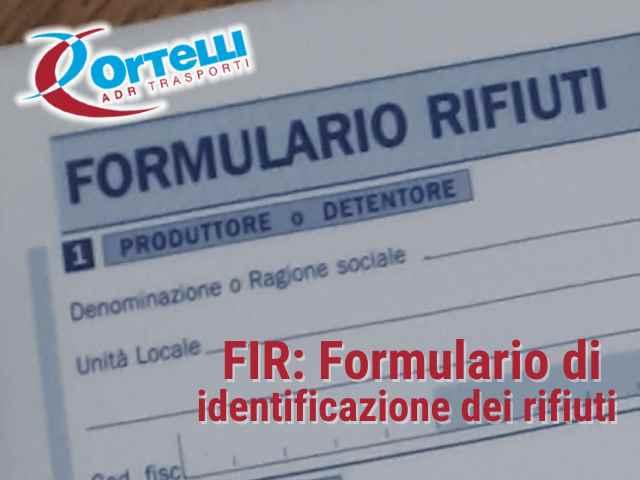 FIR: Formulario Rifiuti